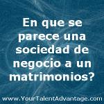 Businss Partnership Marriage spanish